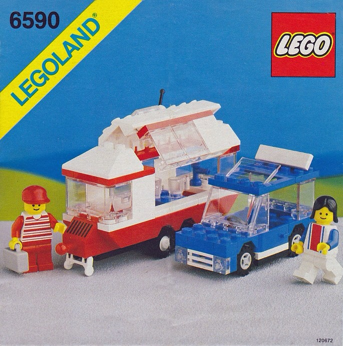 image of lego 6590 caravan and car