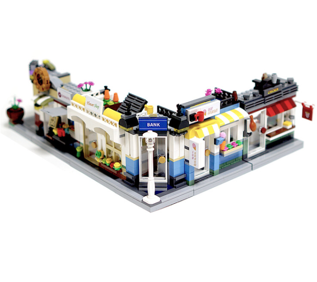 Lego Ideas Shopping Streets by Chiltech