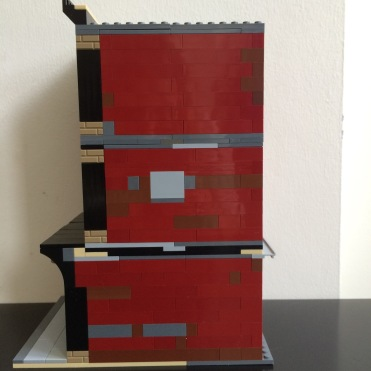 Side view of Lego SoHo MOC