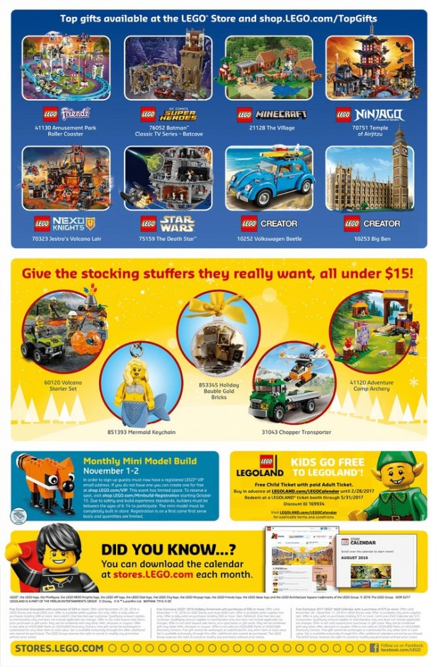 lego store calender
