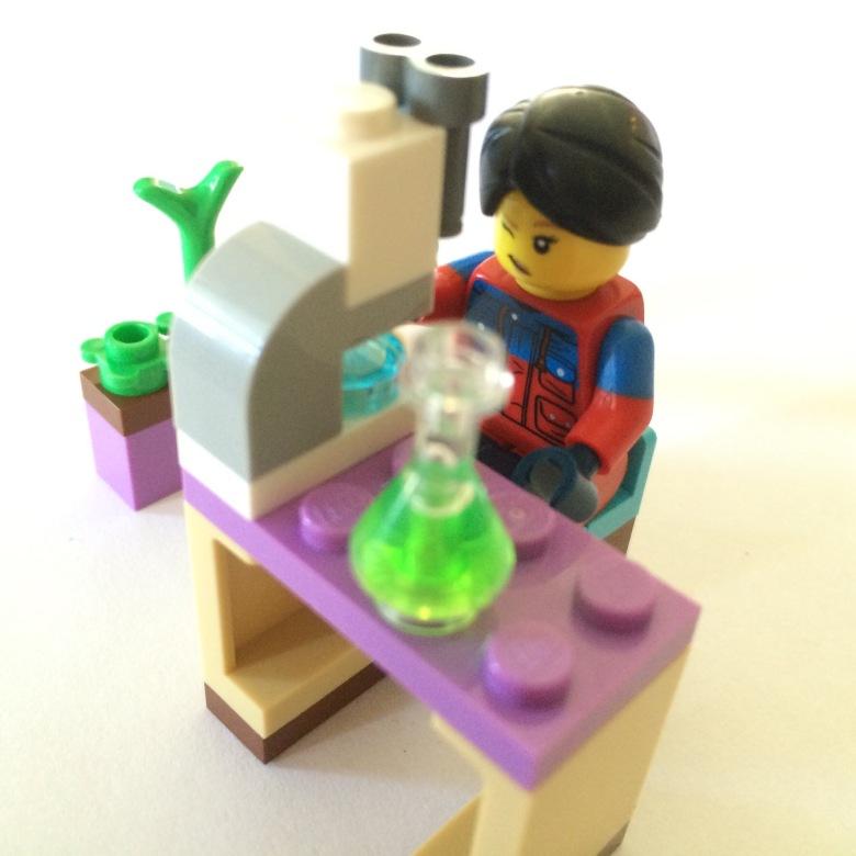lego friends magazine science set
