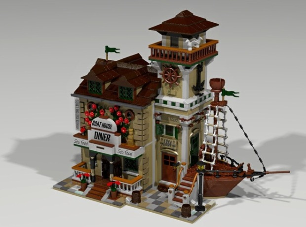 lego boat house diner