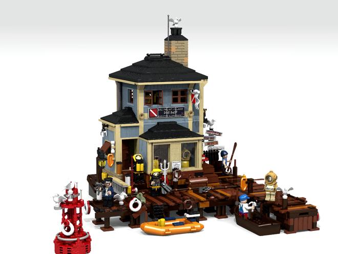 lego dive shop