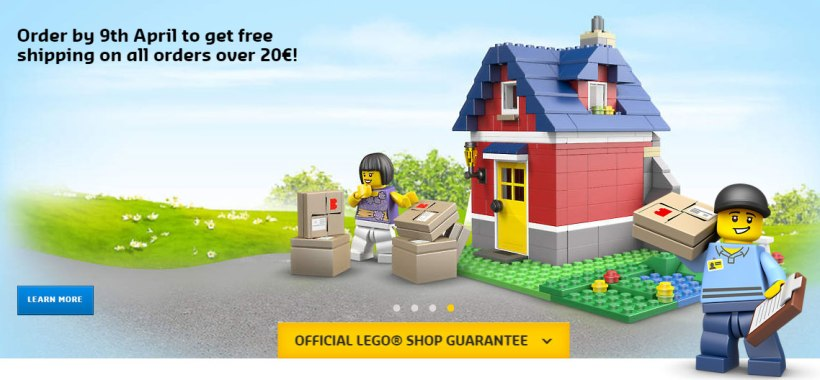 Lego Free Shipping to Ireland