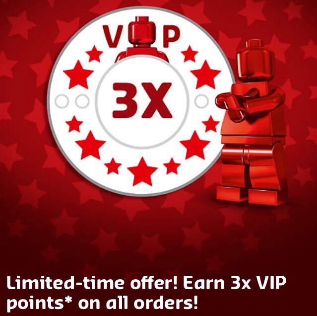 Lego TRIPLE VIP points promotion