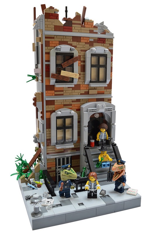 Lego Brownstone Build