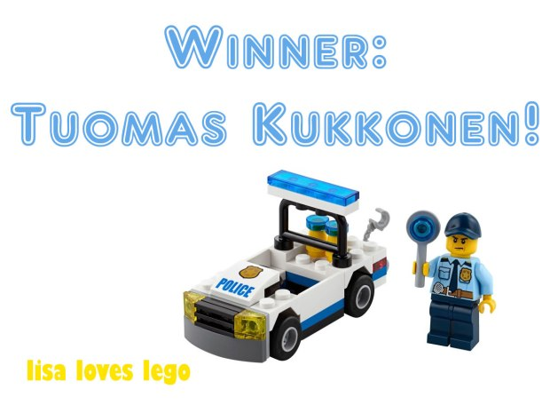 Winner of Lego Competition Tuomas Kukkonen
