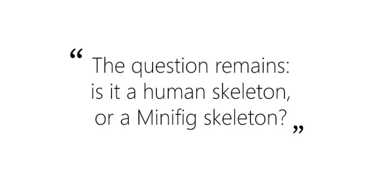 Anatomini Lego Minigure or Human Skeleton