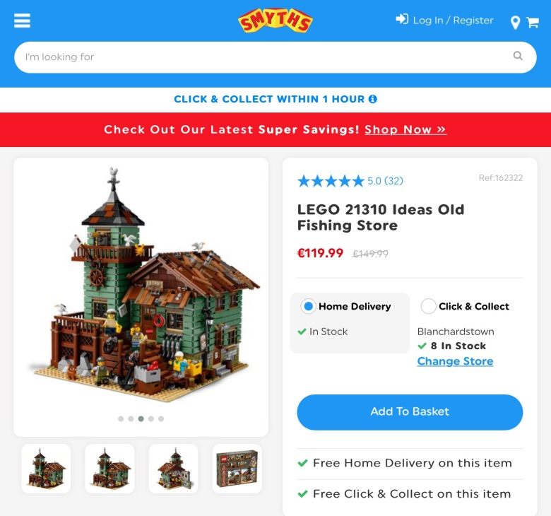 Lego sold Fishing Store