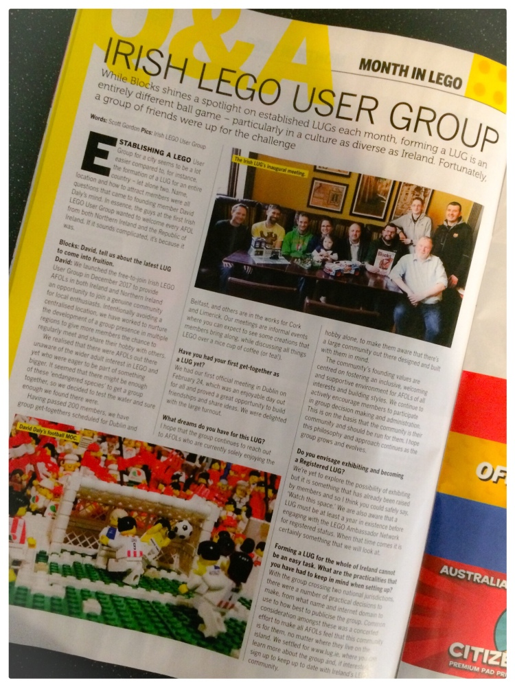 Irish Lego User Group in Blocks Magazine