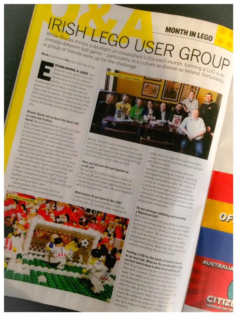 Irish Lego User Group in Blocks Magazine
