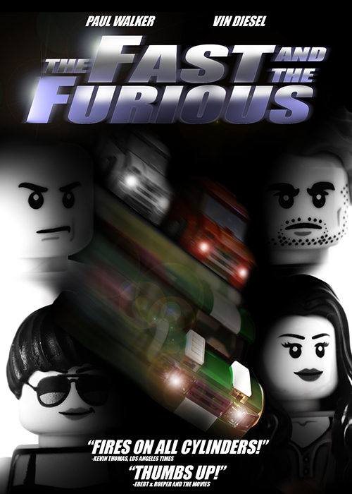 True North Bricks Fast and the Furious LEGO Poster