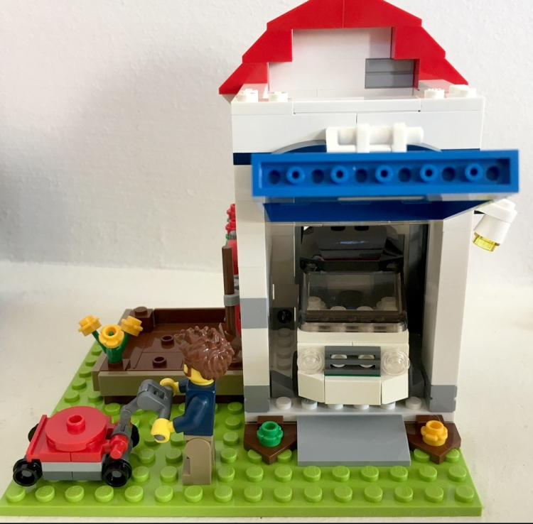 LEGO Car in Garage