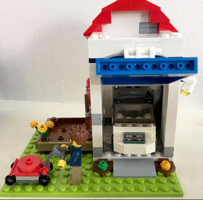 LEGO Car in Garage