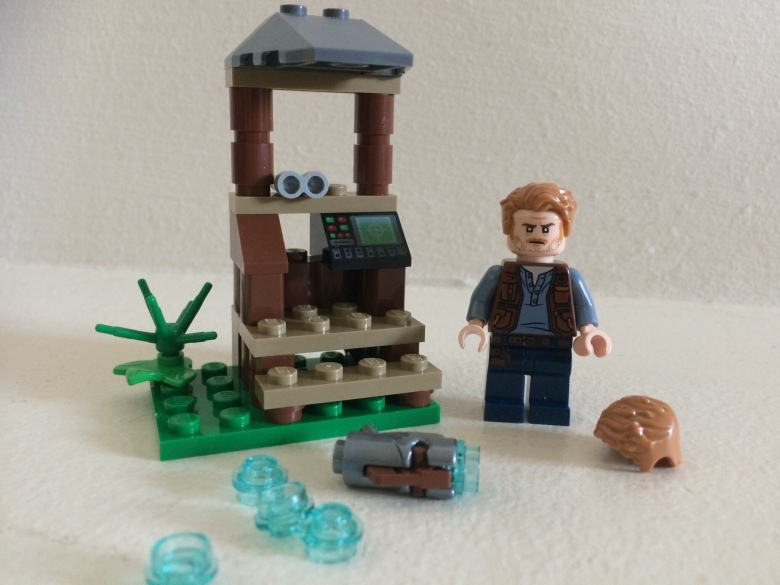 LEGO Owen Grady and look out post
