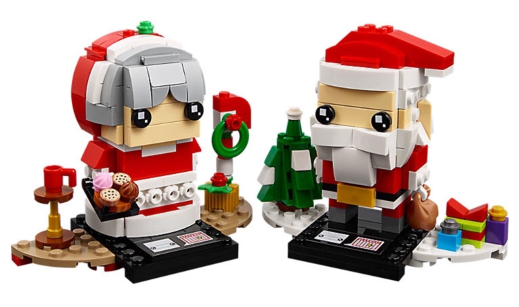 Mr and Mrs Claus BrickHeadz