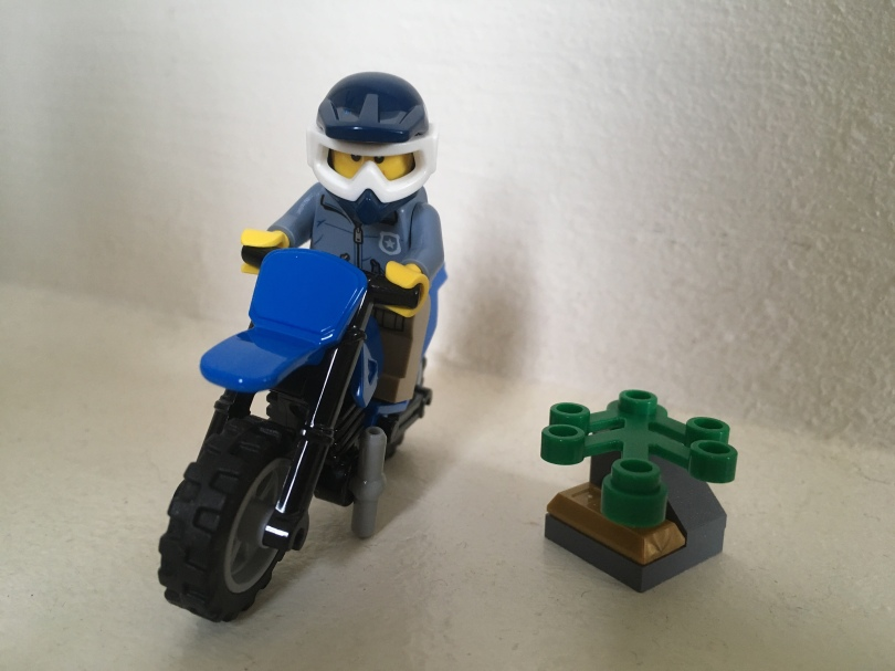 LEGO Mountain Police Officer and Motorbike