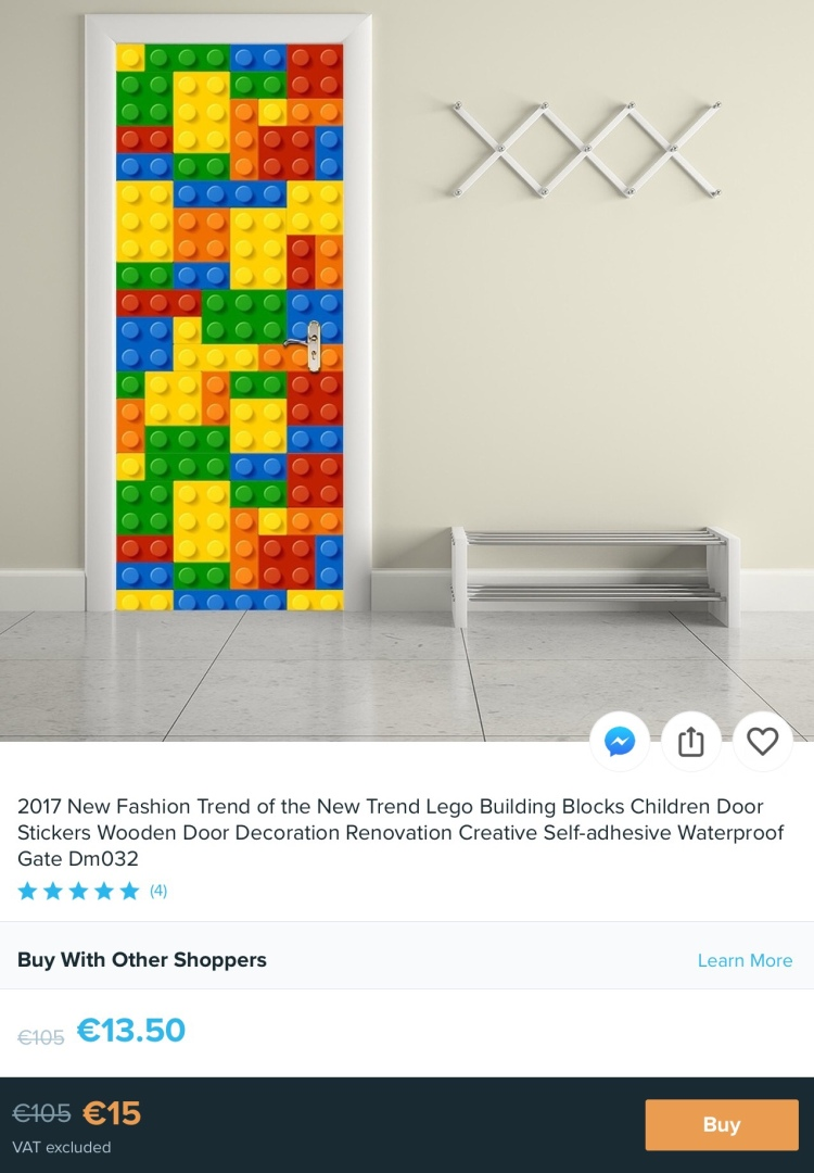 LEGO Blocks Door Sticker