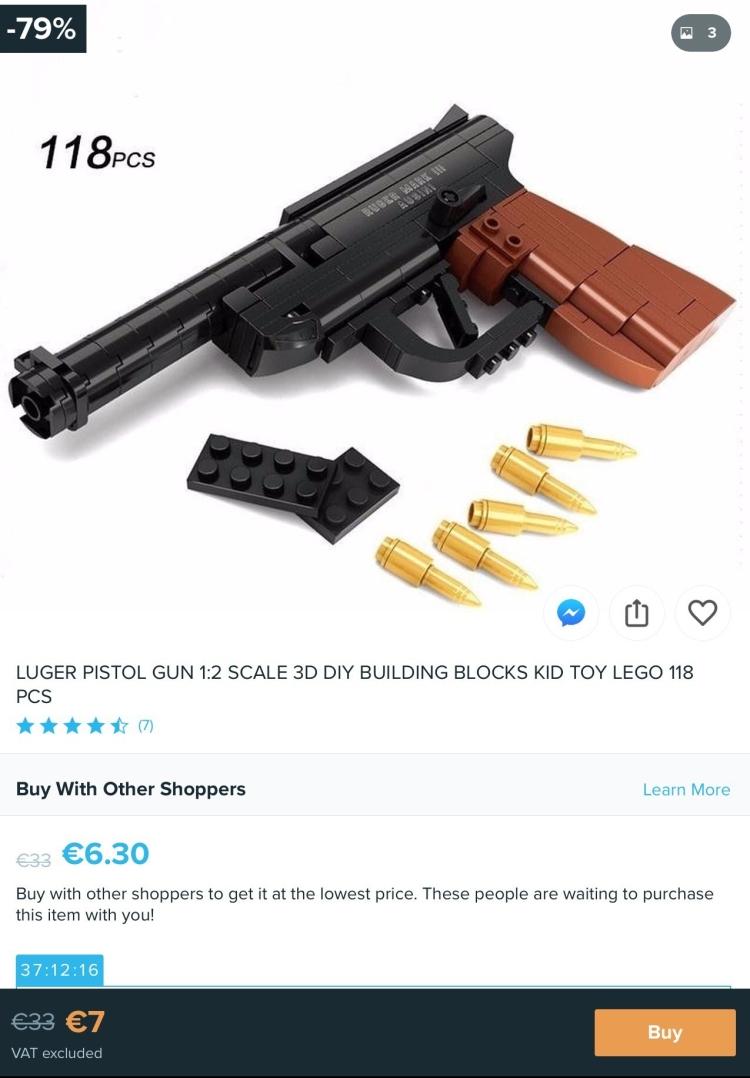 Fake LEGO pistol