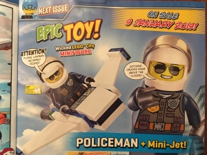 Lego City sky police Minifigure with micro jet