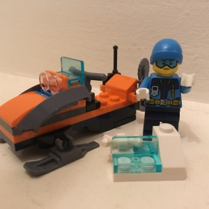 Lego City arctic explorer with snowmobile
