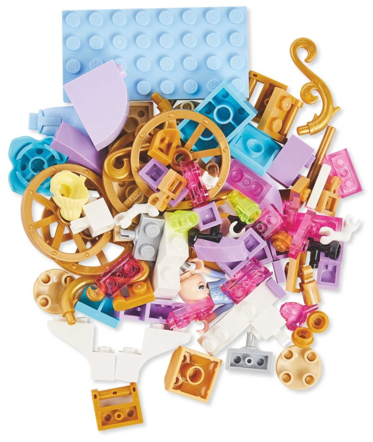LEGO pieces from Disney Princess Build Your Own Adventure Book