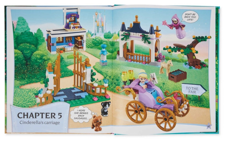 LEGO Disney Princess Build Your Own Adventure Book spread