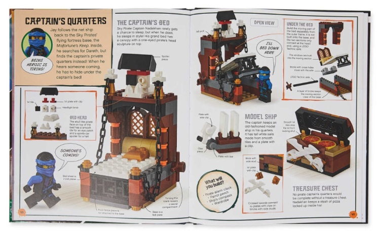 LEGO Ninjago Build Your Own Adventure Book double page spread