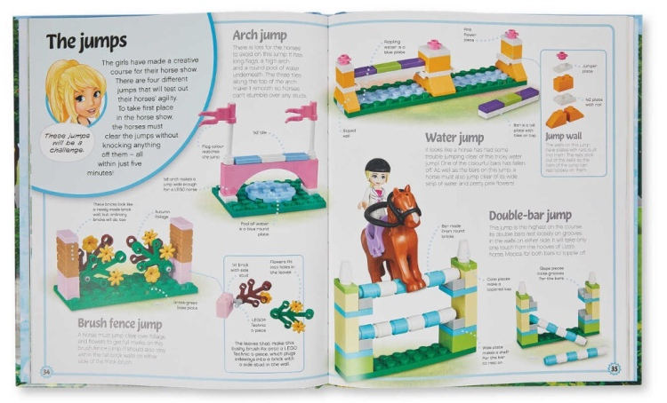 Double page spread LEGO Friends Build Your Own Adventure Book
