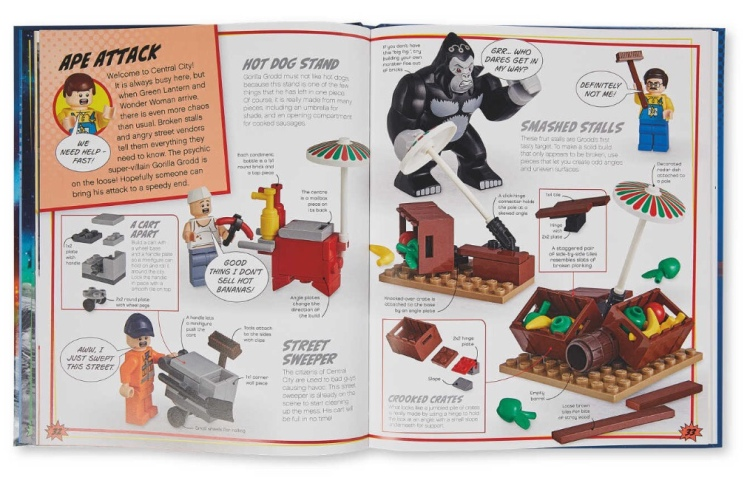 Double page spread from LEGO DC Super Heroes Build Your Own Adventure Book
