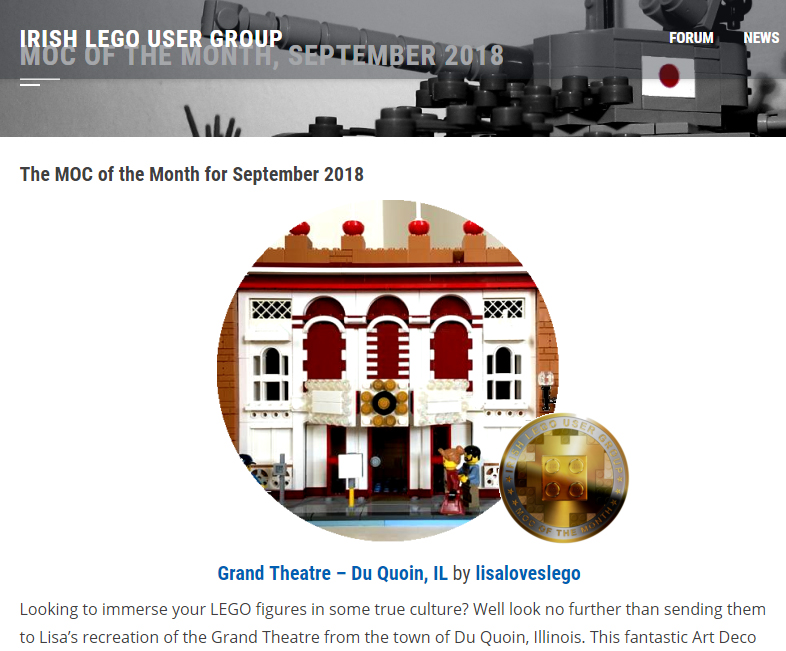 Irish LEGO User Group MOC of the Month