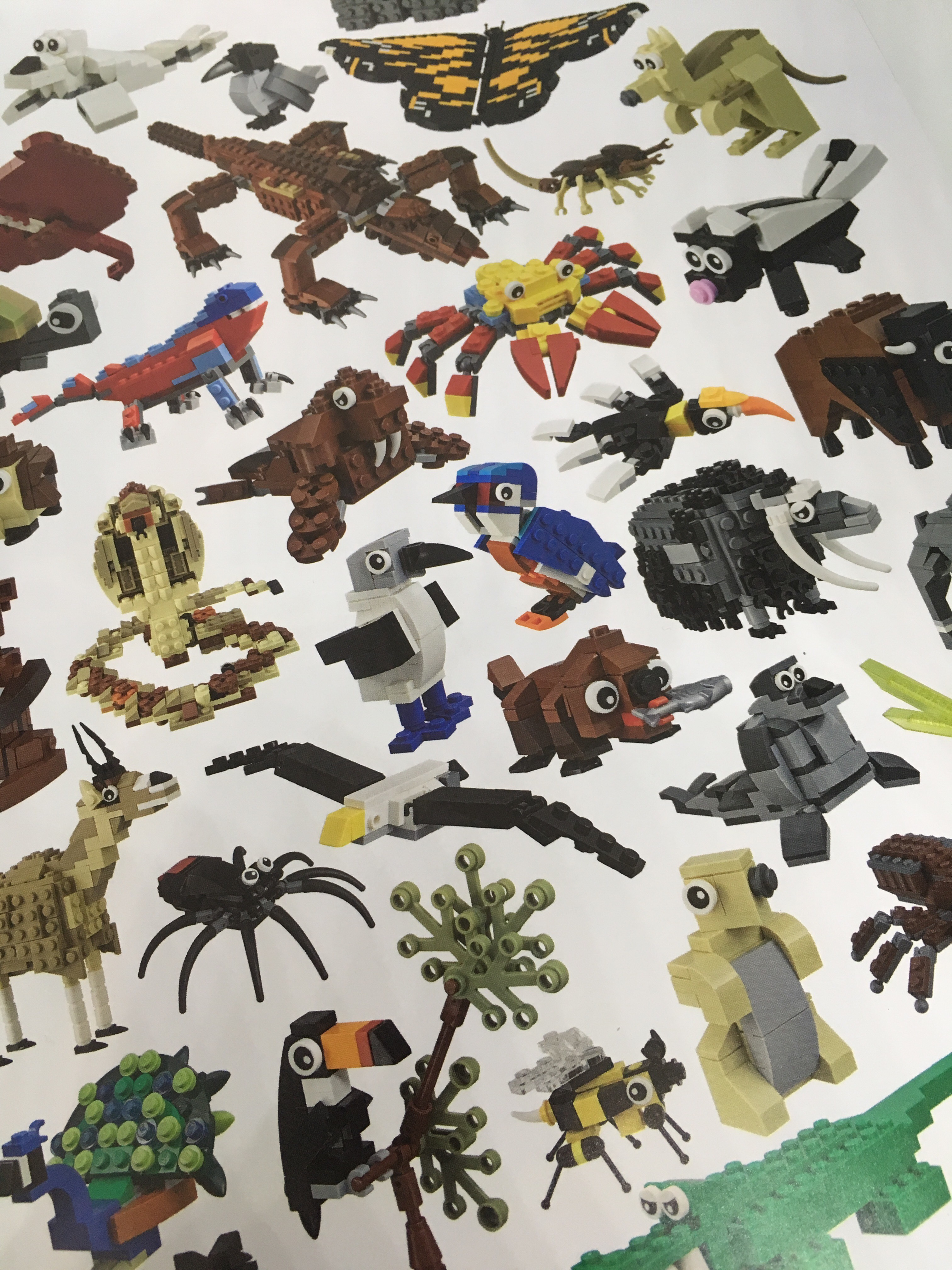 Brick built Lego animals