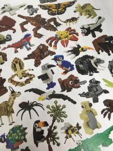 Brick built Lego animals