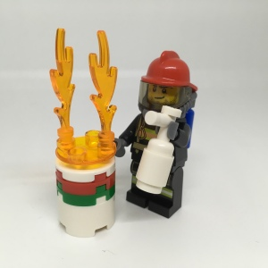 Lego CITY firefighter Minifigure