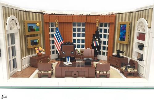 Brick Obama MOC by wallyjarek