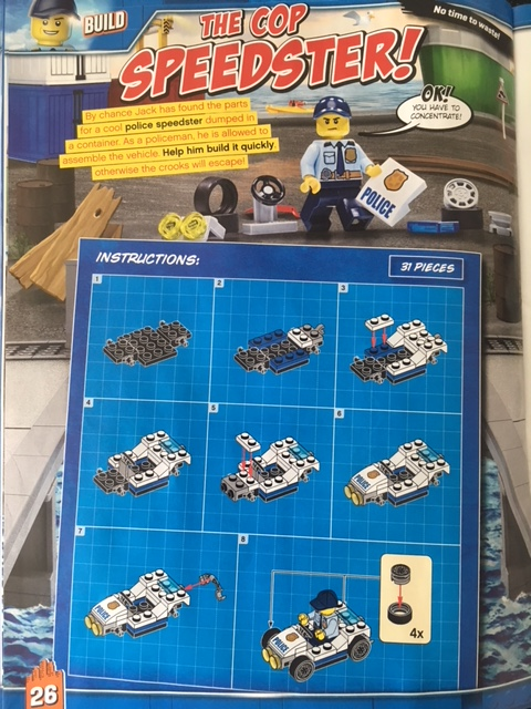 Instructions for epic toy in Lego City Magazine Issue 17