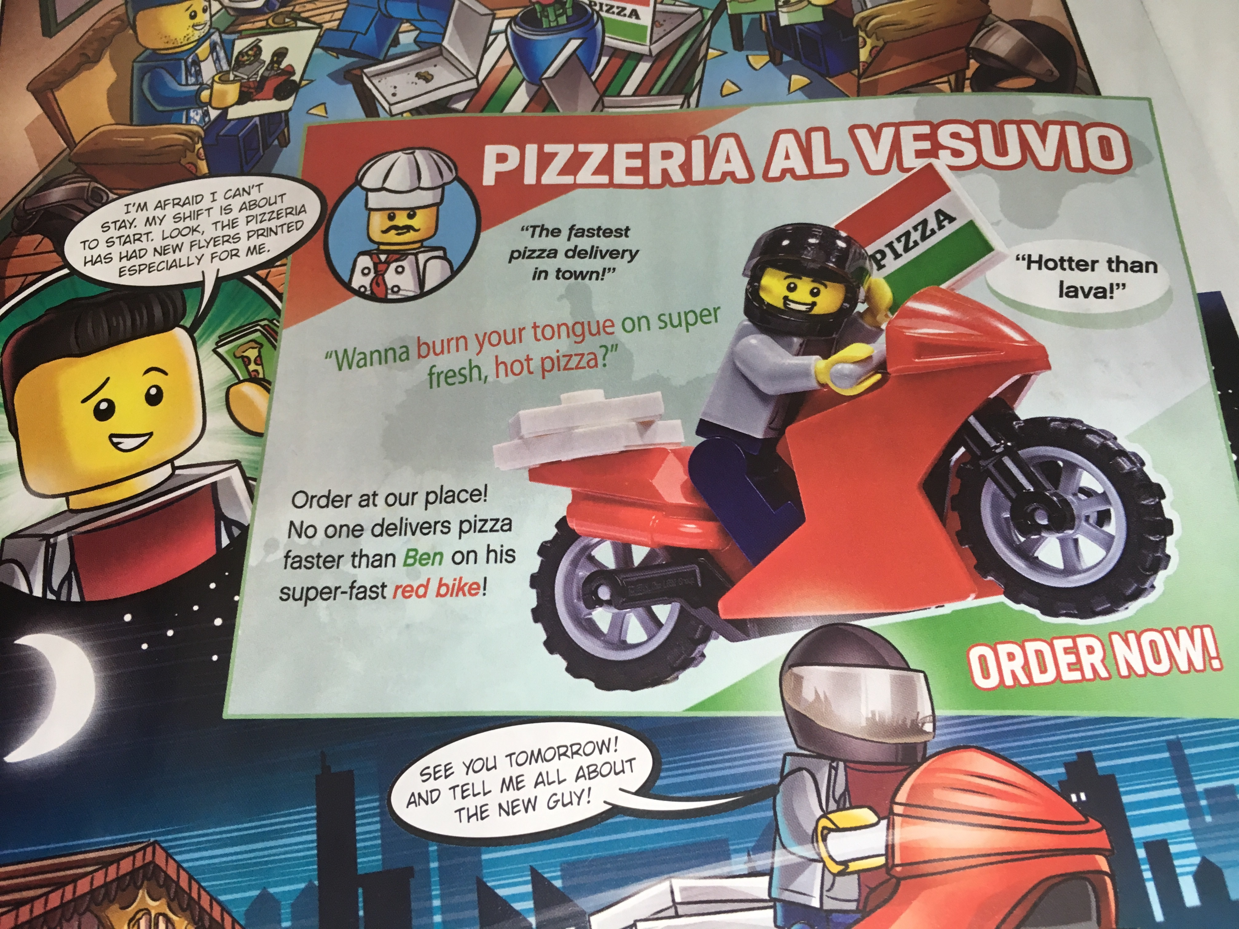 Lego City Magazine Issue 19 Pizza Guy